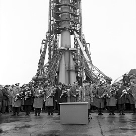 Soyuz 6 on the launch pad