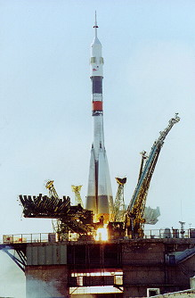Soyuz TM-30 launch