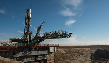 Soyuz TMA-16M on the launch pad